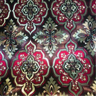 Wallpaper Empire Metallic Brown And Red Damask Wallpaper