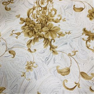 Wallpaper Empire Floral Ivory And Gold Wallpaper