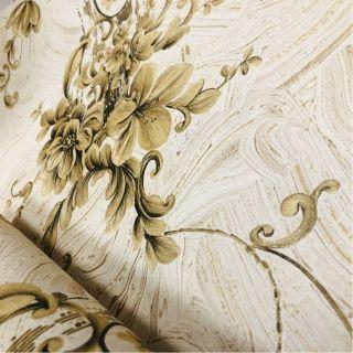 Wallpaper Empire Floral Cream And Gold Wallpaper