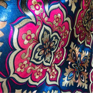 Wallpaper Empire Metallic Blue And Pink Damask Wallpaper