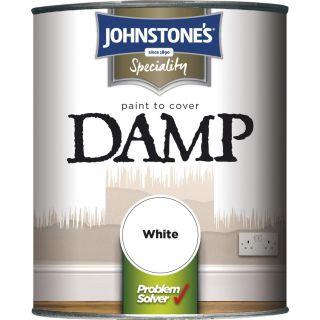 Johnstone's  Damp Proof Paint - White 2.5L