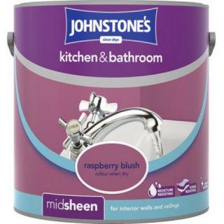 Johnstone's Kitchen & Bathroom Emulsion Raspberry Blush - 2.5 Litres
