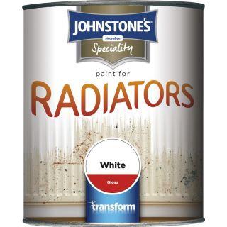 Johnstones Radiator Paint - White Gloss 750ml