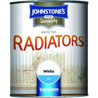 Johnstones Radiator Paint - White Satin 750ml