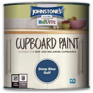 Johnstones Revive Cupboard Paint Deep Blue Gulf 750ml