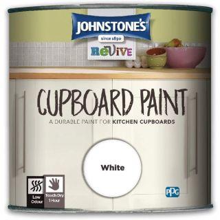 Johnstones Revive Cupboard Paint White 750Ml