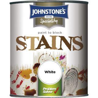 Johnstones Stain Blocking Paint - White 750ml