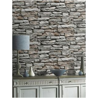 Arthouse Moroccan Wallpaper 623000 Old Rustic Brick Stone 3D Wall Slate Effect