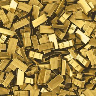 Muriva Gold Bar Pattern Wallpaper Realistic Modern Bling Embossed Vinyl L16612