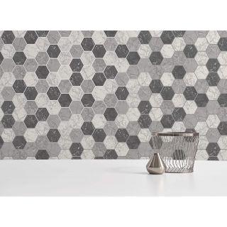 Crown Metro Hex Geometric Wallpaper - Charcoal M1508