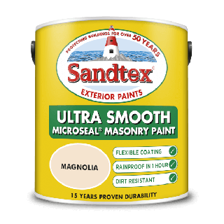 Sandtex Ultra Smooth Masonry Paint Magnolia 5L