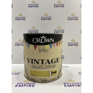 Crown Vintage Flat Matt Emulsion Paint For Interior Walls Ceilings Mean Mustard