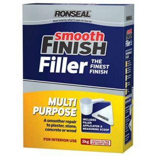 Rosneal Smooth Finish Multi Purpose Filler Interior Exterior 2kg