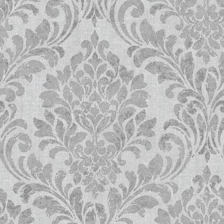 Muriva Eleanor Damask Wallpaper Grey 173511