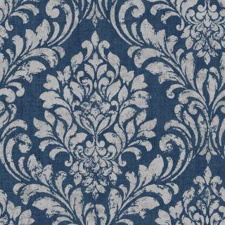 Muriva Eleanor Damask Wallpaper Blue 173513