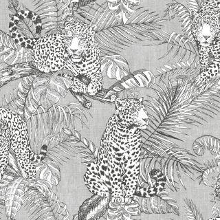 Muriva Mamboa Leopard Wallpaper Grey 173521