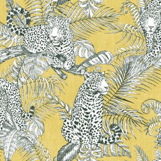 Muriva Mamboa Leopard Wallpaper Ochre 173522