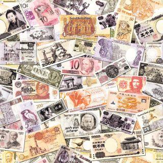 Muriva Notes Money Cash Pattern Wallpaper - Multi - 601508