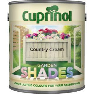 New 2018 Cuprinol Garden Shades Country Cream 5L