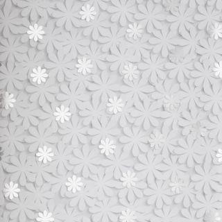 Nina Home Floral Daisy White/Silver Metallic Wallpaper - N10031