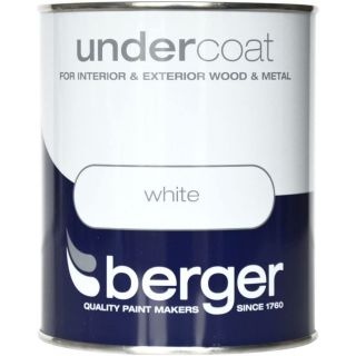 Berger Undercoat - Pure Brilliant White Paint 750ML