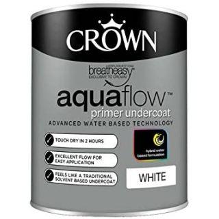 Crown Retail Aquaflow Primer Undercoat - White 0.75 L