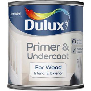Dulux Primer & Undercoat Paint For Wood - 250Ml
