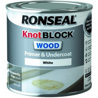Ronseal Knot Block Wood Primer and Undercoat - White 250ml