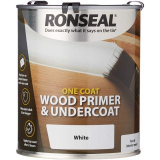 Ronseal One Coat Wood Primer and Undercoat 750ml