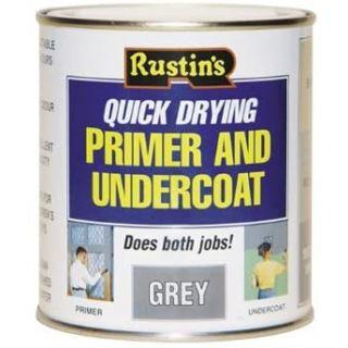 Rustins Primer & Undercoat - Grey 250ML