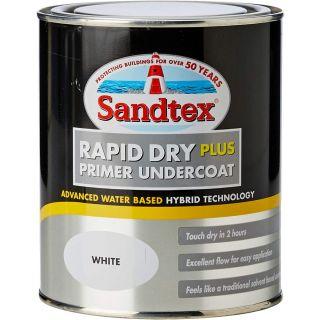 Sandtex Retail Rapid Dry Plus Primer Undercoat - White 0.75 L