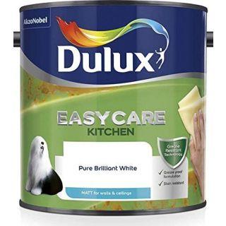 Dulux Easycare Kitchen Matt Emulsion Paint For Walls And Ceilings - Pure Brilliant White 2.5 L
