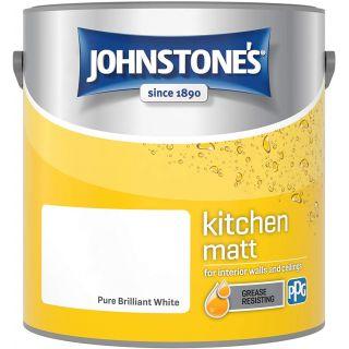 Johnstone's Kitchen Paint Matt - Pure Brilliant White 2.5 L