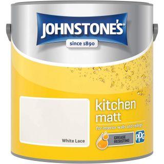 Johnstone's Kitchen Paint Matt - White Lace 2.5 L