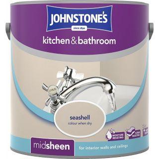 Johnstone's Kitchen and Bathroom Emulsion Paint - Seashell  2.5 L