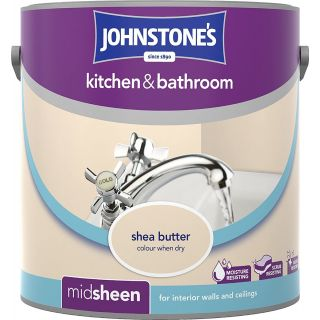 Johnstone's Kitchen and Bathroom Emulsion Paint - Shea Butter 2.5 L