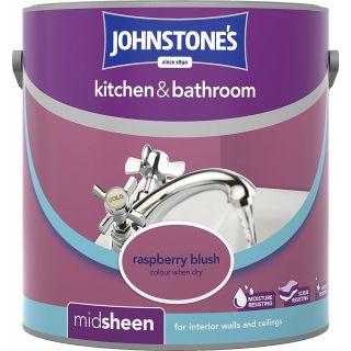 Johnstone's Kitchen and Bathroom Emulsion Paint - Raspberry Blush 2.5 L