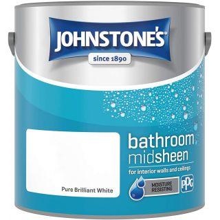 Johnstone's Bathroom Paint - Pure Brilliant White 2.5 L