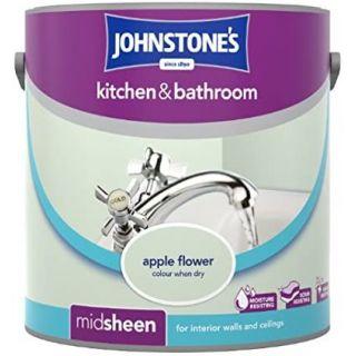 Johnstones Kitchen & Bathroom Midsheen Emulsion Paint - Apple Flower 2.5L