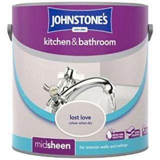 Johnstones Kitchen & Bathroom Midsheen Emulsion Paint - Lost Love 2.5L