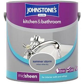 Johnstones Kitchen & Bathroom Midsheen Emulsion Paint - Summer Storm 2.5L