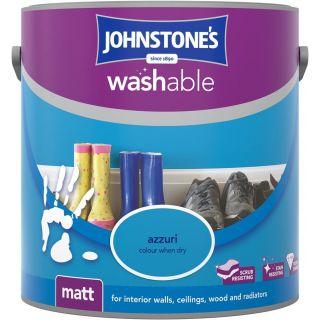 Johnstones Interior Washable Matt - Azzuri 2.5 L