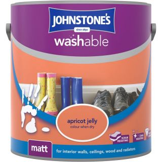 Johnstones Interior Washable Matt - Apricot Jelly 2.5 L