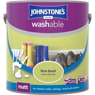 Johnstones Interior Washable Matt - Lime Burst 2.5 L