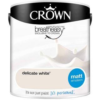 CROWN MATT EMULSION - DELICATE WHITE 2.5L