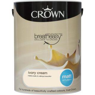 CROWN MATT EMULSION - IVORY CREAM 5L