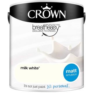 CROWN MATT EMULSION - MILK WHITE 2.5L