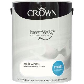 CROWN MATT EMULSION - MILK WHITE 5L