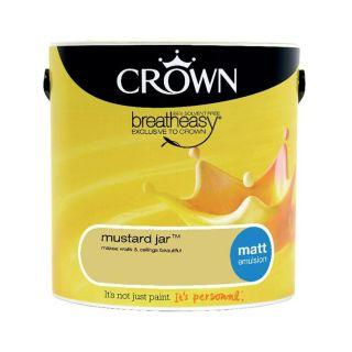 CROWN MATT EMULSION - MUSTARD JAR 2.5L