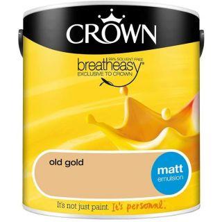 CROWN MATT EMULSION - OLD GOLD 2.5L